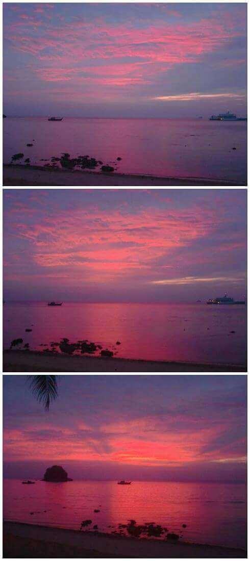 Fiery Sunset in Tioman Engulfing the Calm Blue Sea