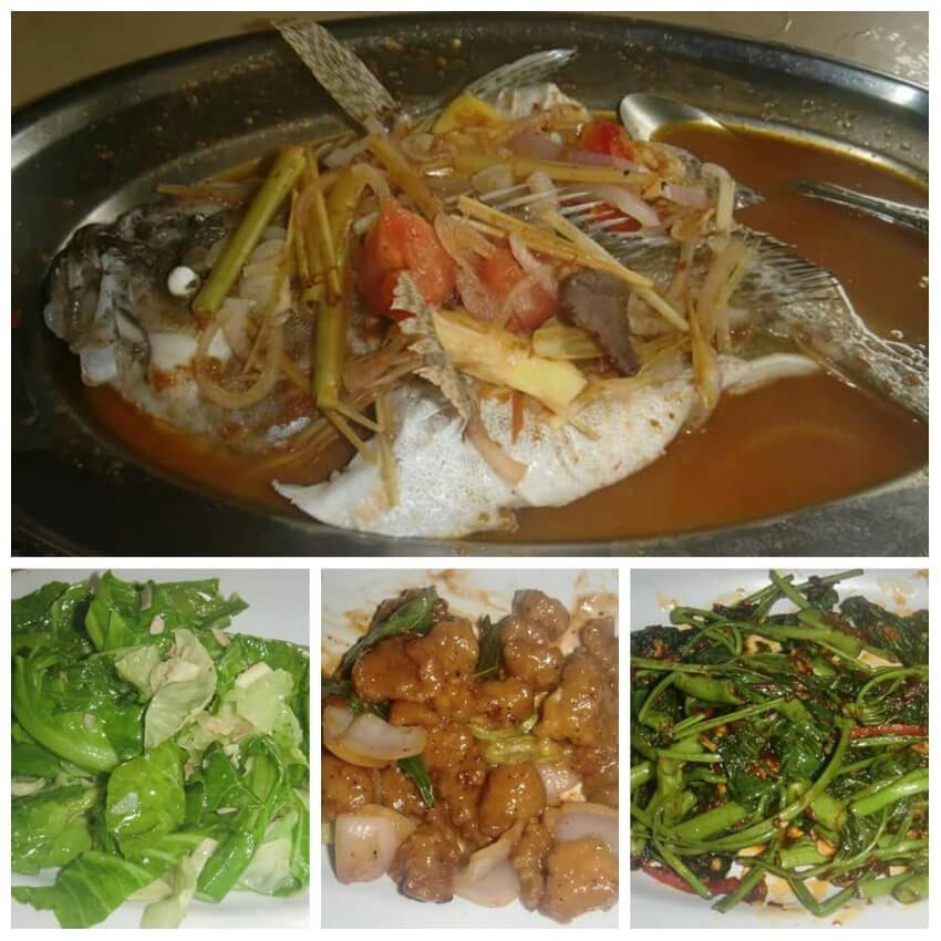 Food in Sarang Seafood Restaurant Tioman