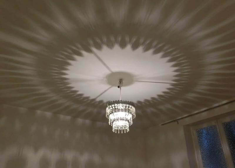 Romantic Effect of the Chandelier Light