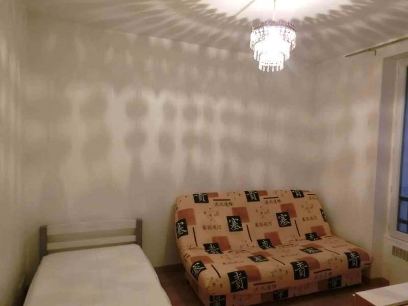 Room lit with Chandelier Light